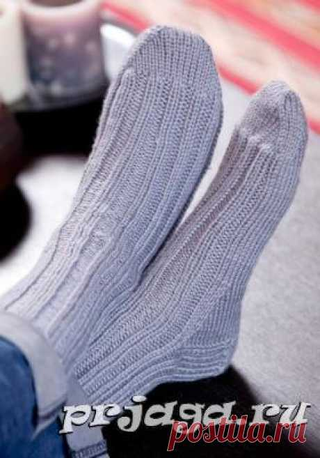 Мужские носки и тапки спицами или крючком