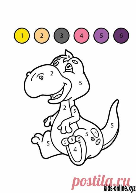 Color by number coloring pages free printable