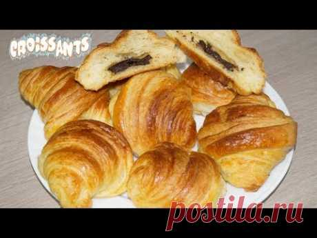 Croissants with Chocolate (Yeast puff pastry) - YouTube