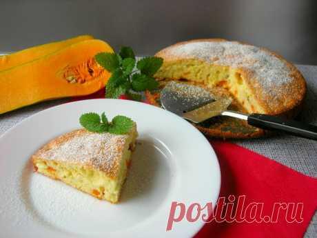 Шарлотка с тыквой, рецепт простой, быстрый и вкусный! — Кулинарная книга
