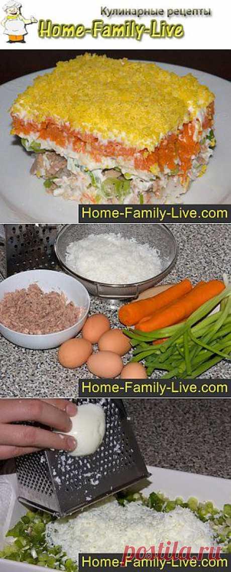 Как приготовить салат Мимоза - пошаговый фоторецепт салата с консервой | Кулинарные рецепты