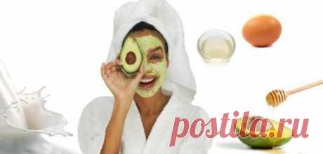 Маска для вашего лица с авокадо и яичным белком для сухой кожи