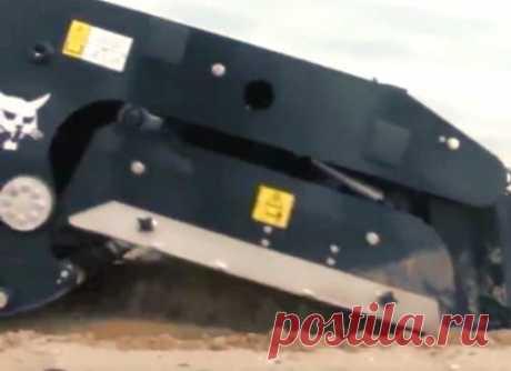 Машина Bobcat - чистильщик песка на пляже Эта машина -Bobcat - очень быстро и легко очищает мусор благодаря замечательной инженерной мысли ее создателей.