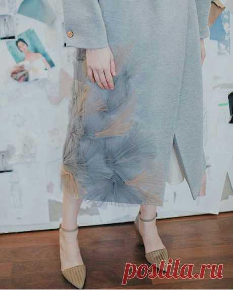 Нежный декор пальто Модная одежда и дизайн интерьера своими руками