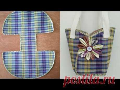 #DIY cute bags tutorial from scratch คลิปสั้น รัชนี งานผ้า handmade