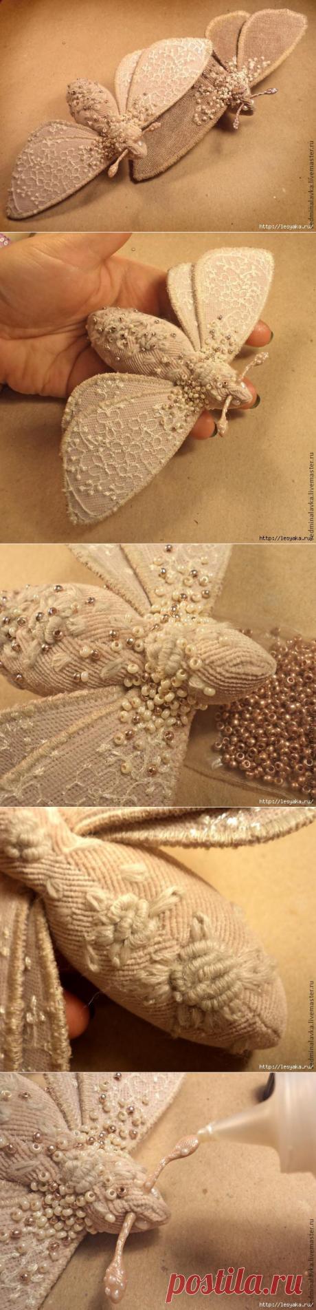 Мотылек - текстильная брошь бабочка своими руками (Diy) / Украшения и бижутерия / ВТОРАЯ УЛИЦА
