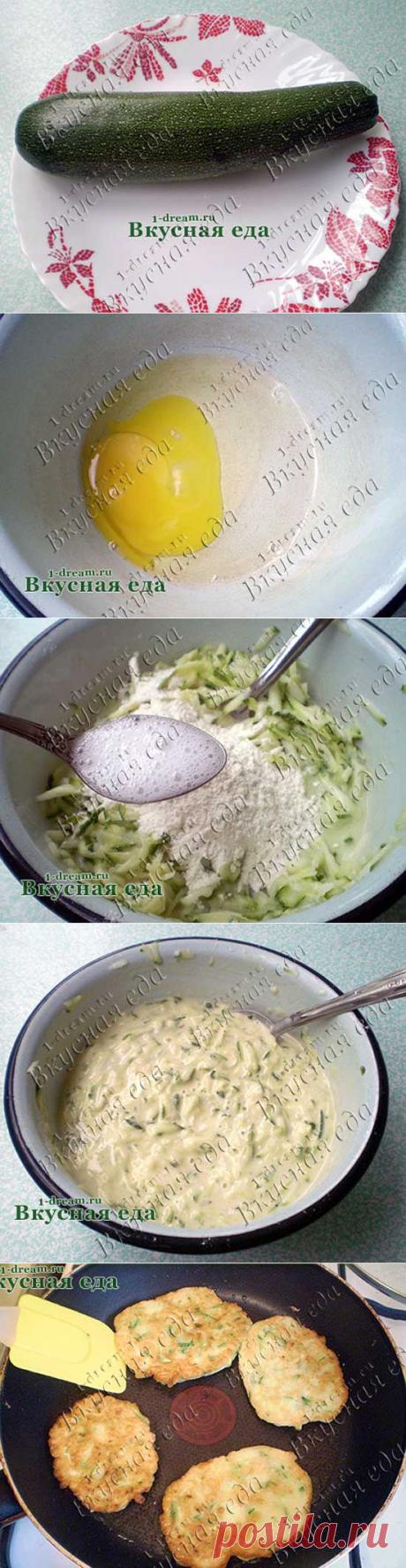 Оладьи из кабачков - фото рецепта кабачковых оладий