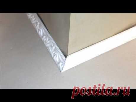 (630) Как правильно вырезать внешний (наружный) угол на плинтусе или багете, без приспособлений? - YouTube