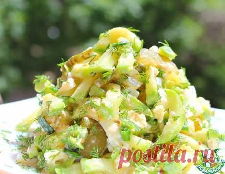 """Вкуснейший летний салат с кабачками """"Трио"""" за 10 минут!"""