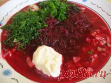 Cold Family beetroot soup