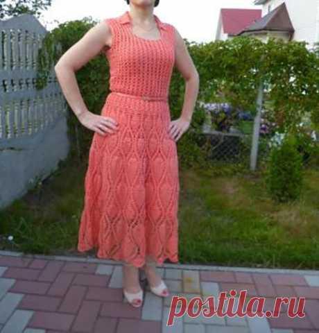 Вязаное платье, схема