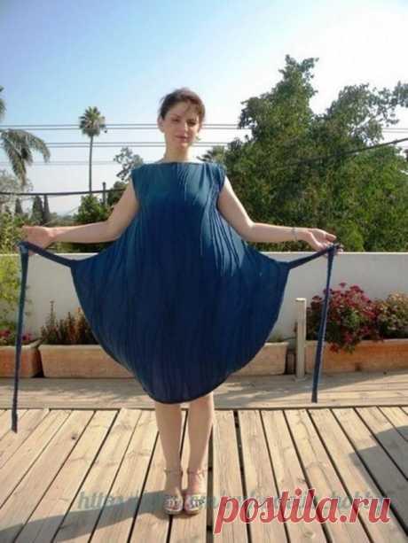 Очень простое платье на завязке