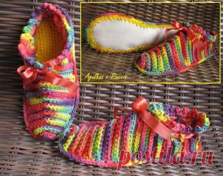 Вязаная обувь | Записи в рубрике Вязаная обувь | Дневник Вязание для детей