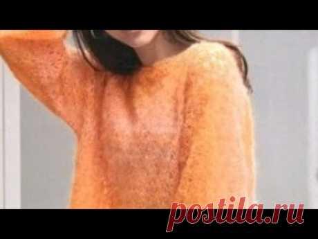 Узор крючком для пуловера - Crochet pattern for pullover