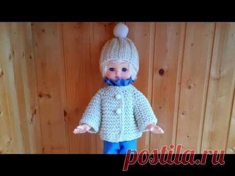 Куртка и шапка спицами/ Кукольный эпизод - 2 #вяжемдетям