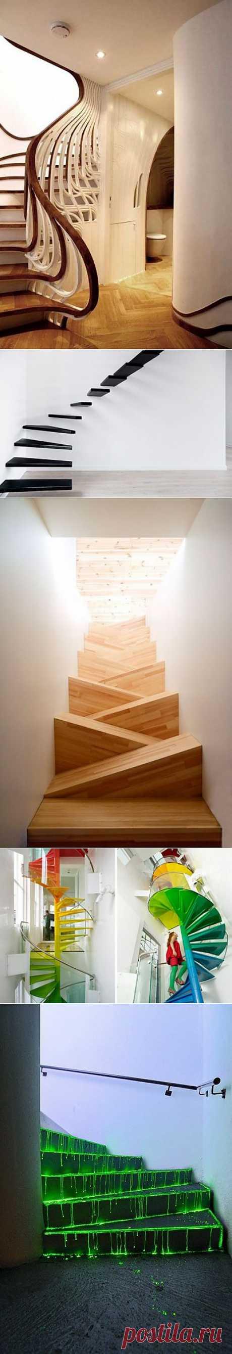 (+1) - Необычные лестницы в доме | Интерьер и Дизайн