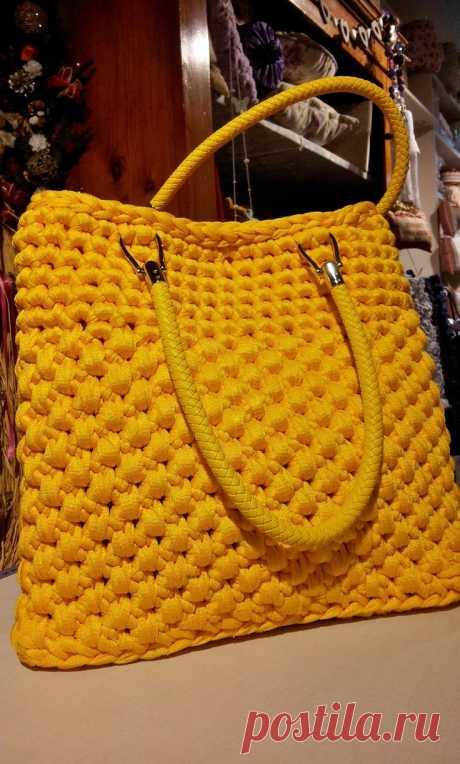 (2) Borsa Желтый realizzata кон fettuccia all'uncinetto.   Carteiras   Желтые мешки, вязание крючком сумки и сумки желтый