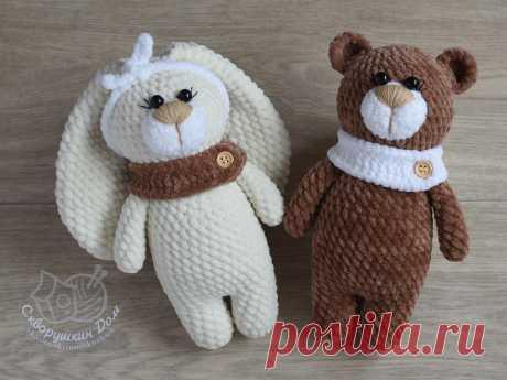 Схема вязания крючком игрушек - домашние животные