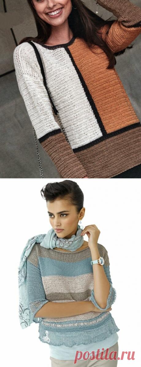 ЛИНИИ, деловые и романтичные, в пуловерах (описание и схемы) | Вяжем интересные проекты | Яндекс Дзен