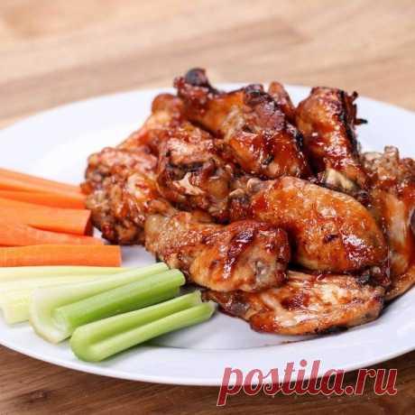 Как приготовить куриные крылышки в соевом соусе - рецепт, ингредиенты и фотографии
