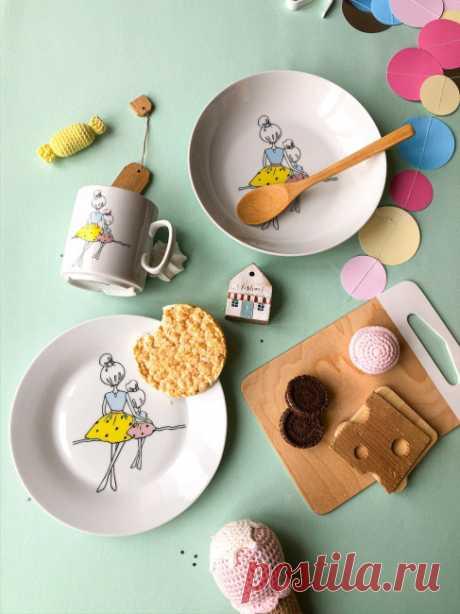 Набор посуды Мама (3 в 1: кружка+тарелка+глубокая тарелка Sans Brides) — купить в интернет-магазине OZON с быстрой доставкой