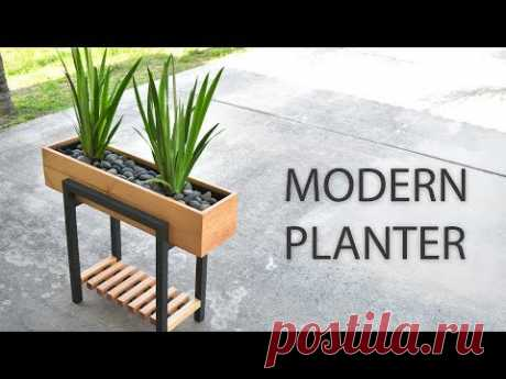How to make a RAISED PLANTER BOX - YouTube
