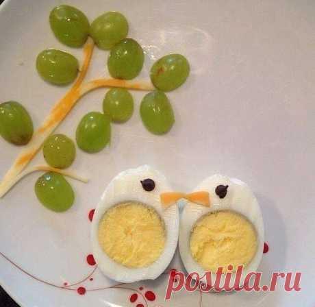 Оформляем из варёных яиц для детей