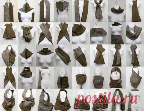 Как носить шарфик / Украшения для волос / Модный сайт о стильной переделке одежды и интерьера
