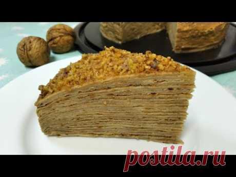 Торт блинный Капучино | Pancake cake Cappuccino - YouTube