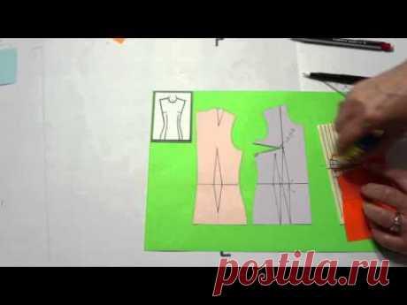 Моделирование от Светланы Поярковой: Оформление нагрудной вытачки на ткани в полоску