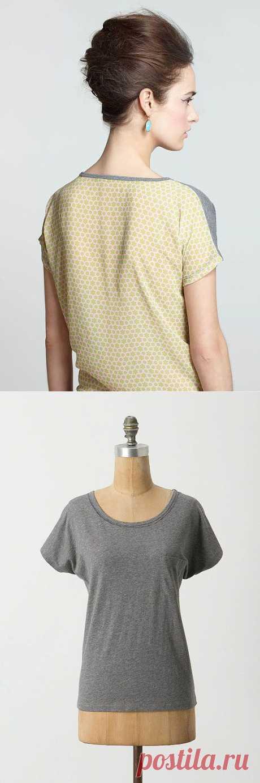 Из двух футболок - одна / Футболки DIY /