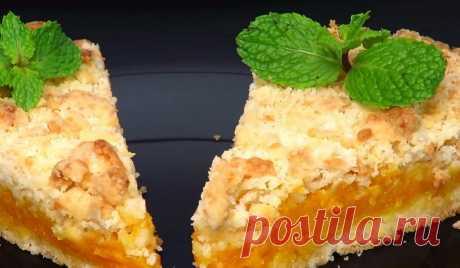 Насыпной тыквенный пирог с апельсиновым ароматом – это бомба - interesno.win Это не просто рецепт – это настоящая бомба! Пирог просто тает во...