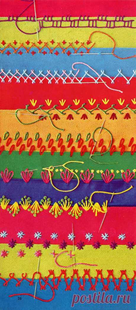 knick knacks & ric rac » Blog Archive » crazy quilt stitches