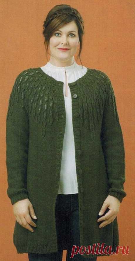 Cardigan spokes for stout women | Vse-Vyazaniye the Knitted cardigan spokes for stout women. Sizes: (S\/M) of L\/XL (XXL) XXXL-XXXXL