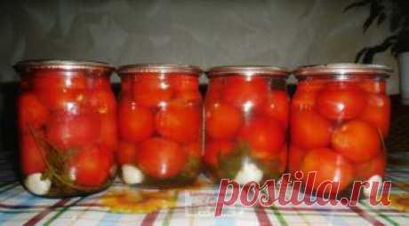 Закрываем на зиму помидоры «Лакомка» (без уксуса) — Кулинарная книга - рецепты с фото