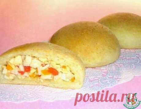 Кукурузные булочки с крабовыми палочками, болгарским перцем и брынзой – кулинарный рецепт