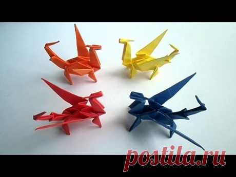 оригами дракон, как сделать из бумаги оригами дракон // origami dragon