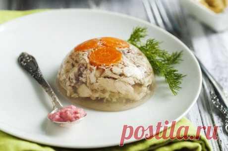 Рецепт мини-заливного из курицы