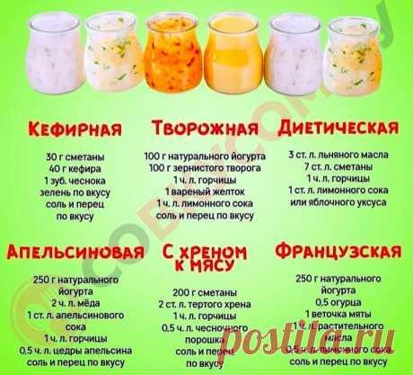 Лучшие заправки для салатов!