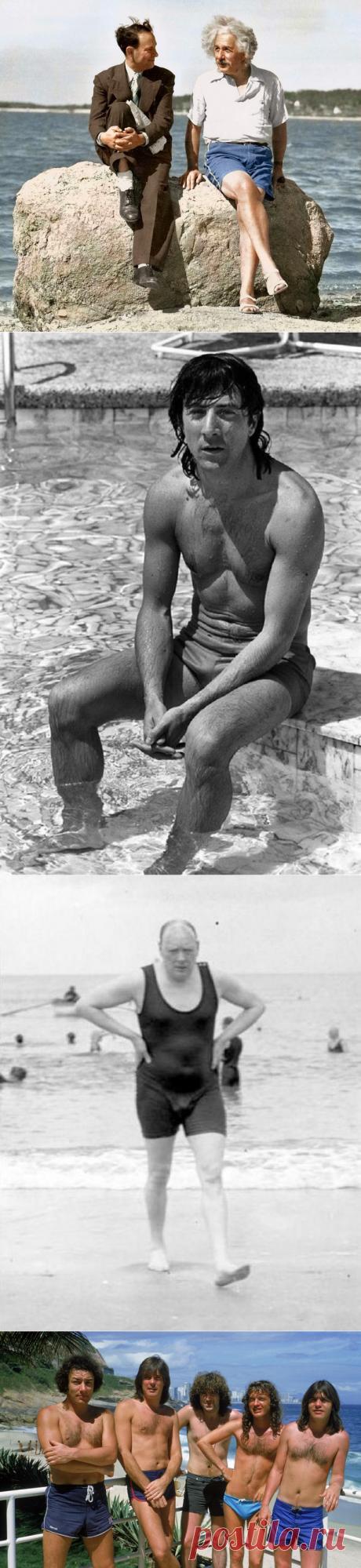 Кого только не встретишь на пляже: 30 фото знаменитостей в купальниках.
