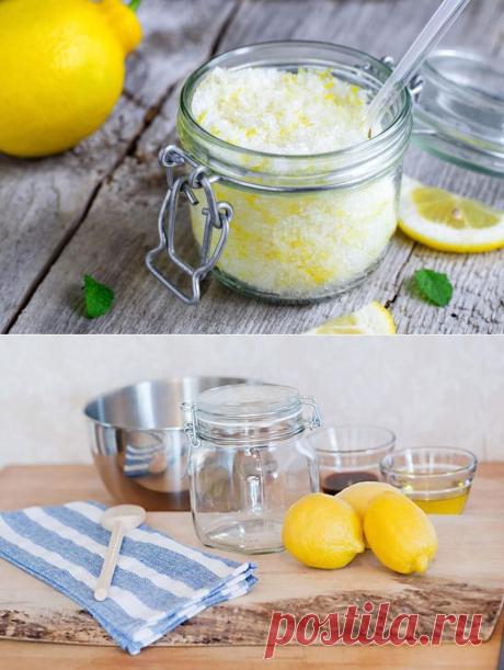 Как приготовить лимонный скраб для кожи