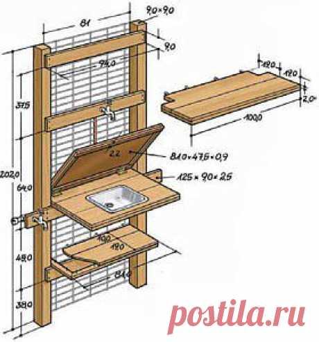 Идеи домашнего мастера  » Архив  Универсальный рабочий стол в саду | Идеи домашнего мастера
