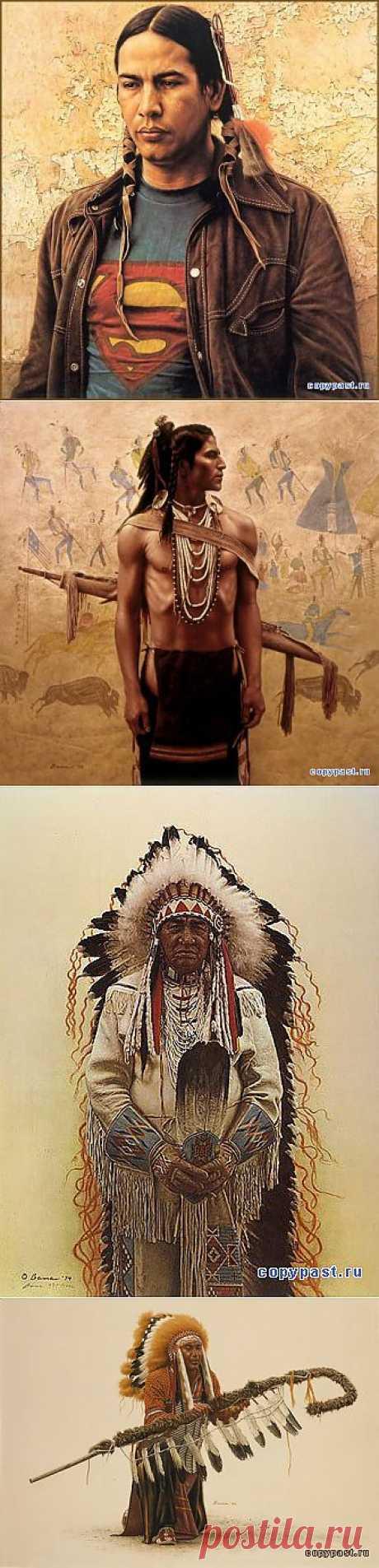 Индейские мотивы.Часть 3.James Bama. - Блоги -