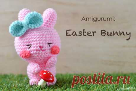 Easter hare of an amiguruma: scheme of knitting
