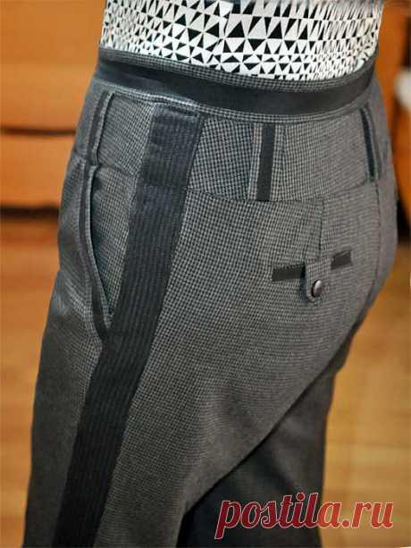 Как увеличить размер брюк вставками полос в боковые швы | Идеи для творчества, рукоделие