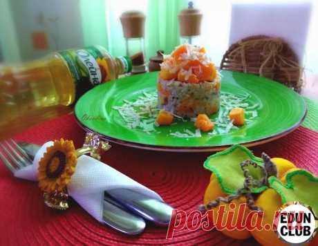 Пряный рис с печёной тыквой - рецепт