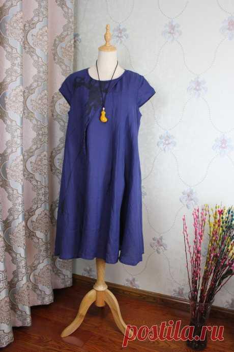 Womens Linen dress loose dress Party dress summer short | Etsy