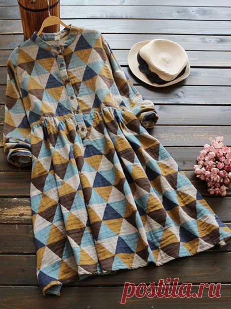 Повседневные геометрические платья с длинными рукавами Ваш друг поделился с вами модным сайтом и дает вам скидку до 20%! требуй это сейчас.