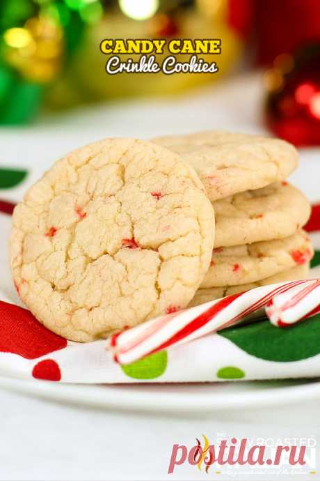 Candy Cane Crinkle Cookie