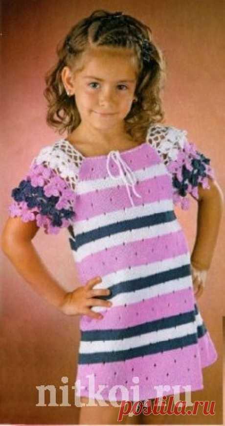 Платье с рукавами из цветов